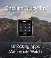 Apple watch face showing passcode entry with catalina Quick Tip