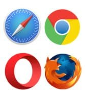 Safari, Chrome, Opera and Firefox Mac Icons
