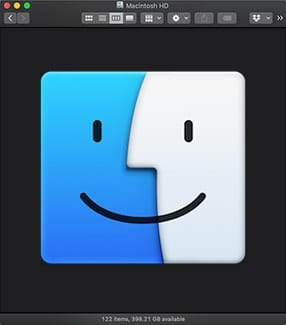 Finder Icon with Finder Toolbar