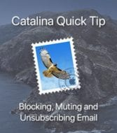 Apple mail icon overlaying catalina image