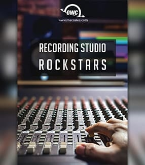 Mixing console with Recording Studio Rockstars