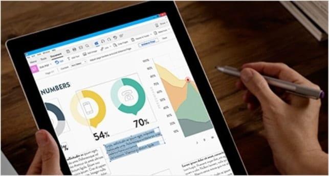 iPad displaying a PDF file