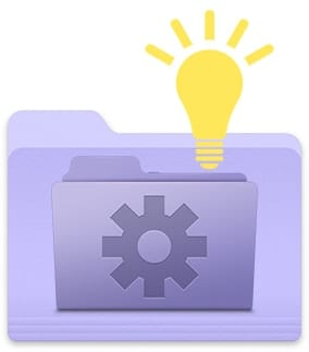 Smart Folder Icon with Lightbulb