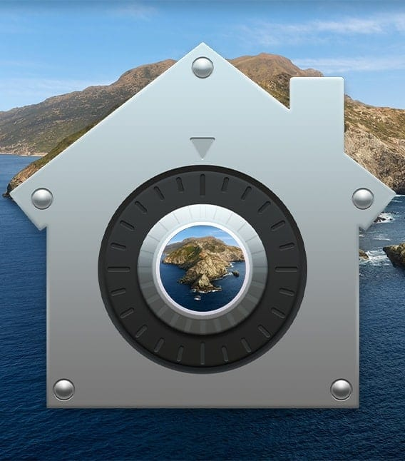 Mac Security Preferences Icon with Catalina backdrop