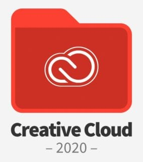 "Adobe Creative Cloud Folder with text saying ""Creative Cloud 2020"""