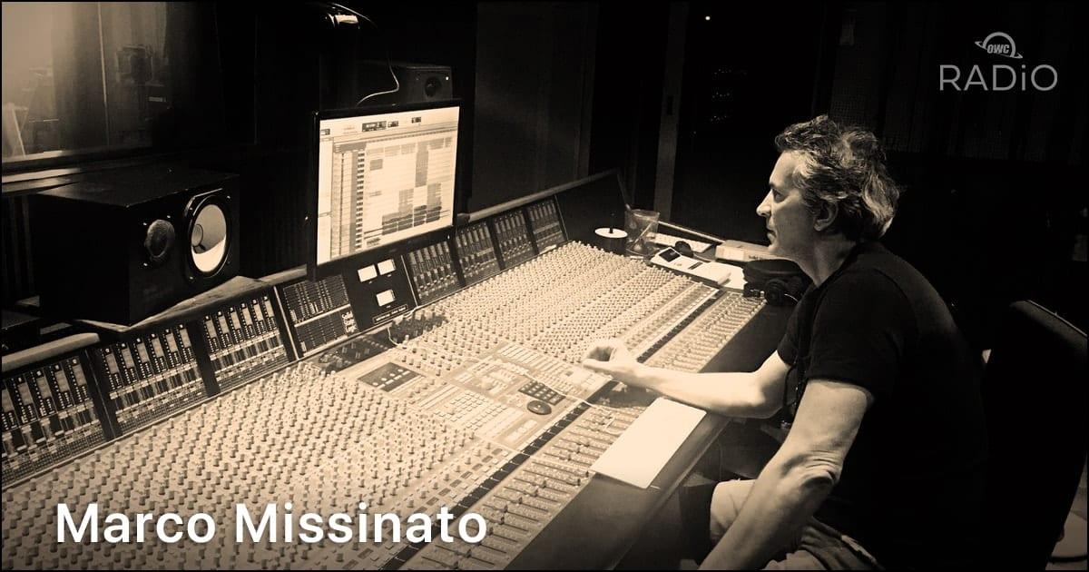 Marco Missinato sitting at a recording console