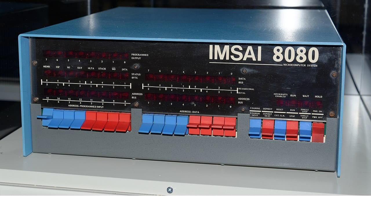 IMSAI 808 personal computer.