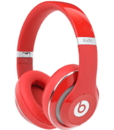 Red Apple Beats Studio2 Headphones