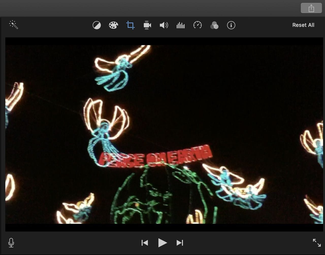 Editing tools to improve your video or photos are located just above the preview window.