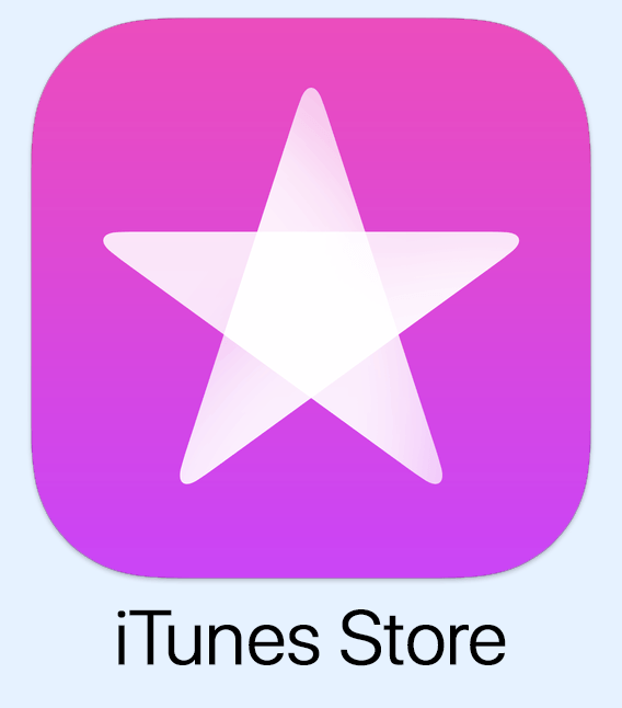 """iTunes Sore Icon with text saying """"iTunes Store"""""""