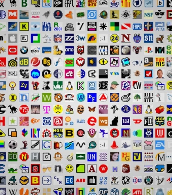 Collections of favicon images