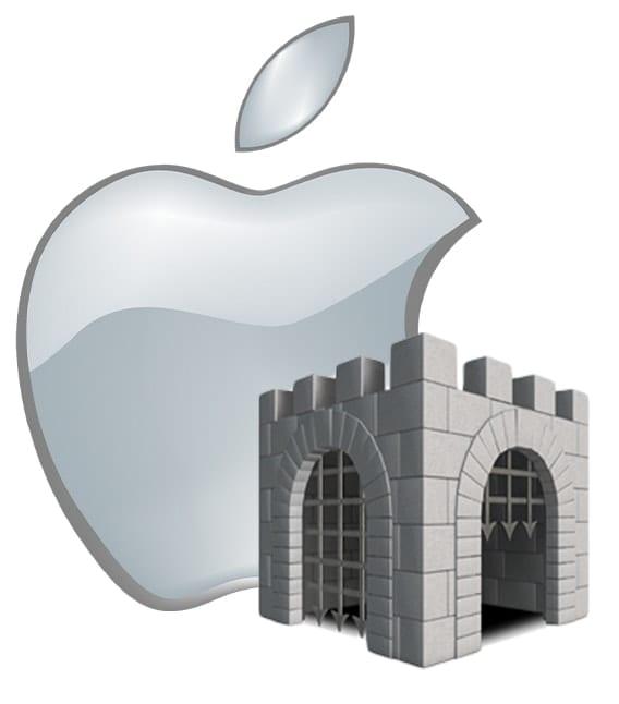 Mac Gatekeeper icon with Apple logo