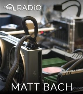 Picture of Computer Build by Matt Bach of Puget Systems with OWC RADiO Logo
