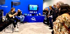 Michael Lang and Henry Diltz share about their Woodstock experience to an enraptured audience at The NAMM Show 2020