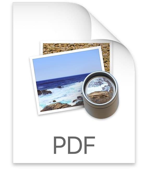 PDF document icon on Mac