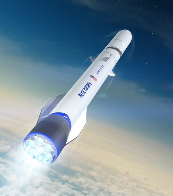 Artist rendering of Blue Origin Rocket