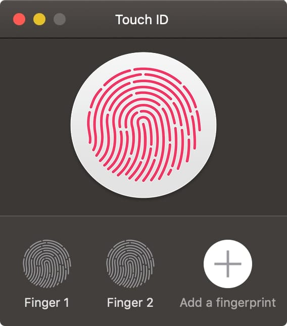 Touch ID with Fingerprint