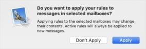 """Click """"Apply"""" to apply the rule to your mailbox"""