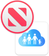 Mac Family Sharing icon and Apple News icon