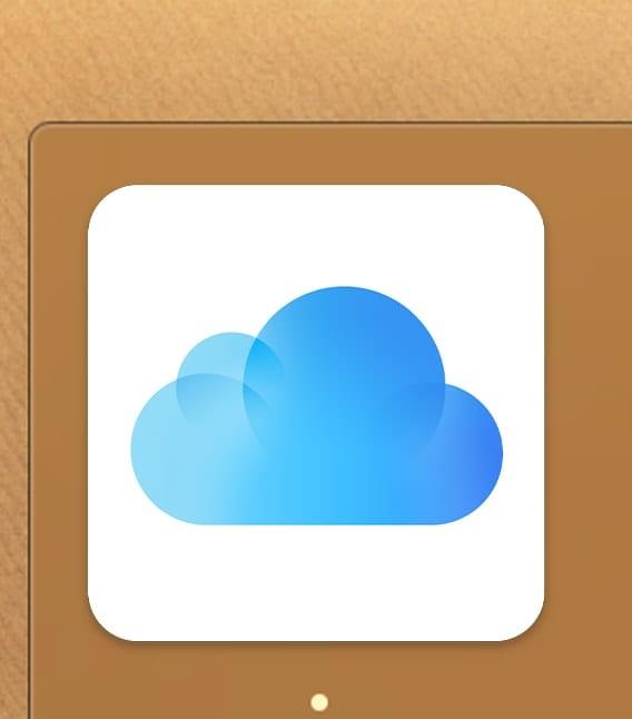 iCloud icon on a Mac Dock