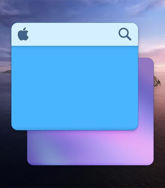 macOS Desktop Preferences Icon over catalina background