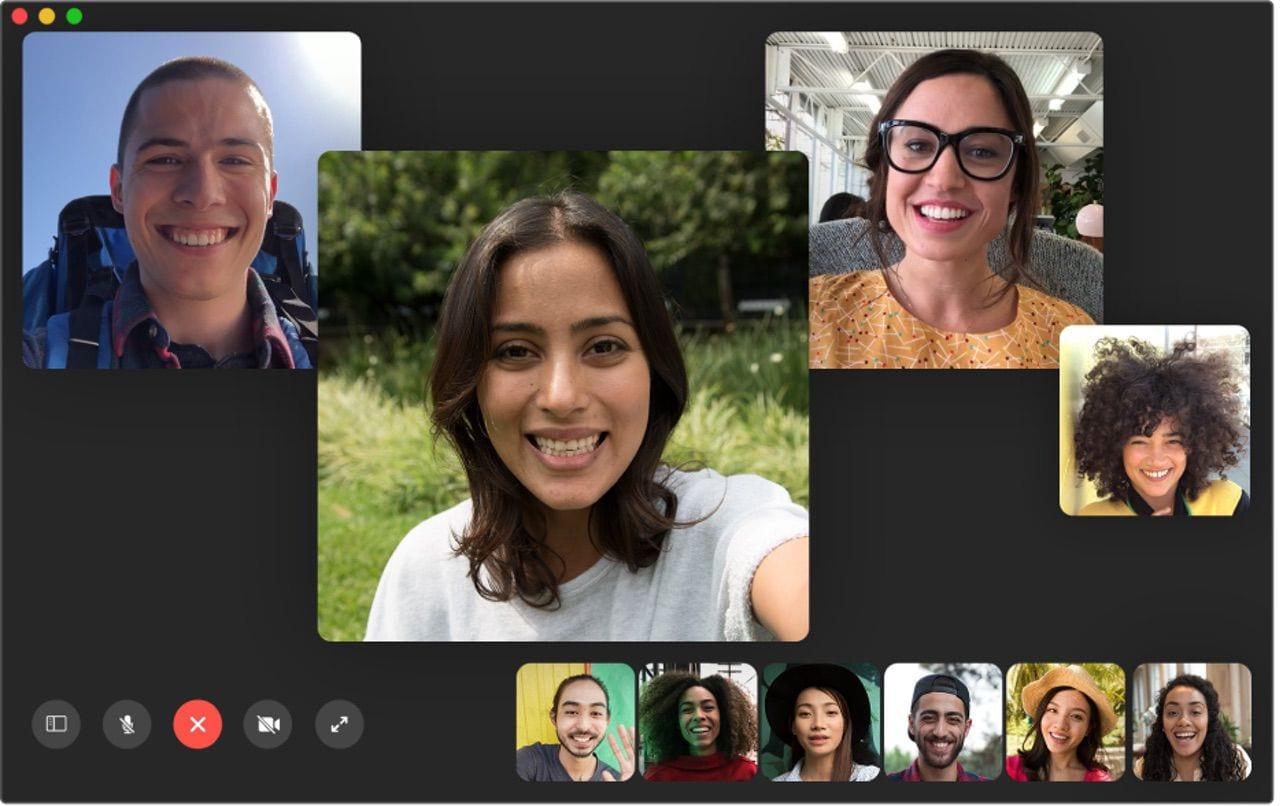 FaceTime Group Call. Image via Apple.com