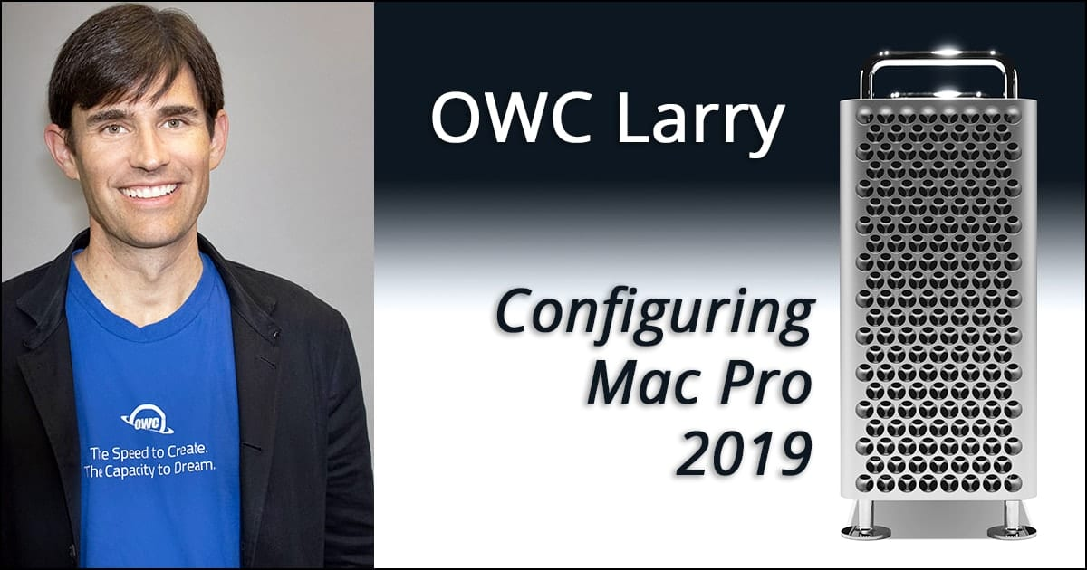 Larry O'Connor configuring Mac pro on OWC Radio
