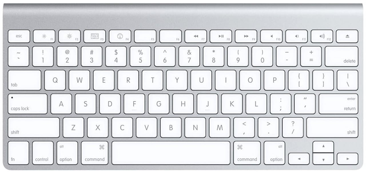Mac keyboard without number pad