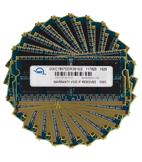 OWC 1867 DDR3 memory in a pinwheel