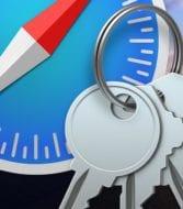 safari logo and keychain access logo on a macos catalina background