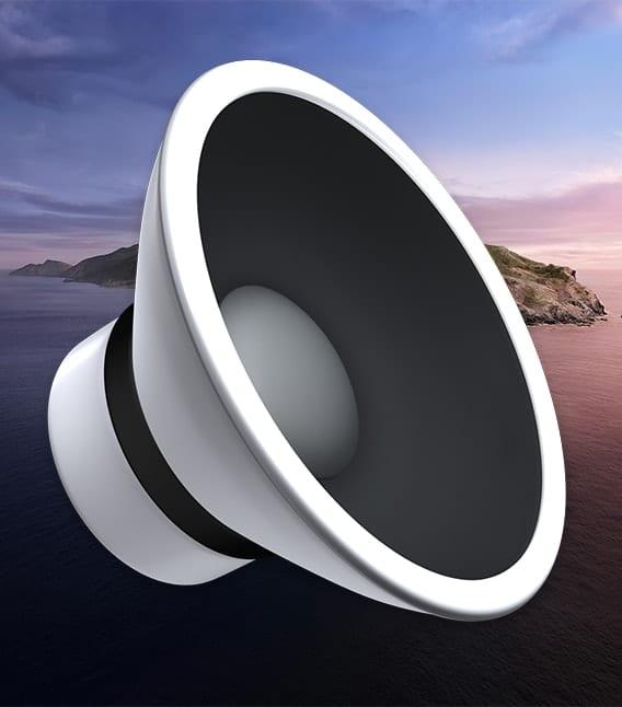 mac sound icon on macos catalina background