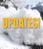 "Avalanche with text saying ""updates"""