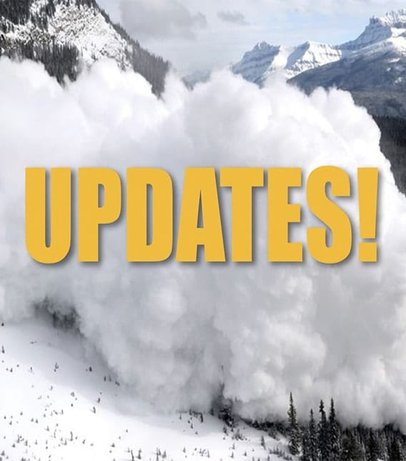 """Avalanche with text saying """"updates"""""""