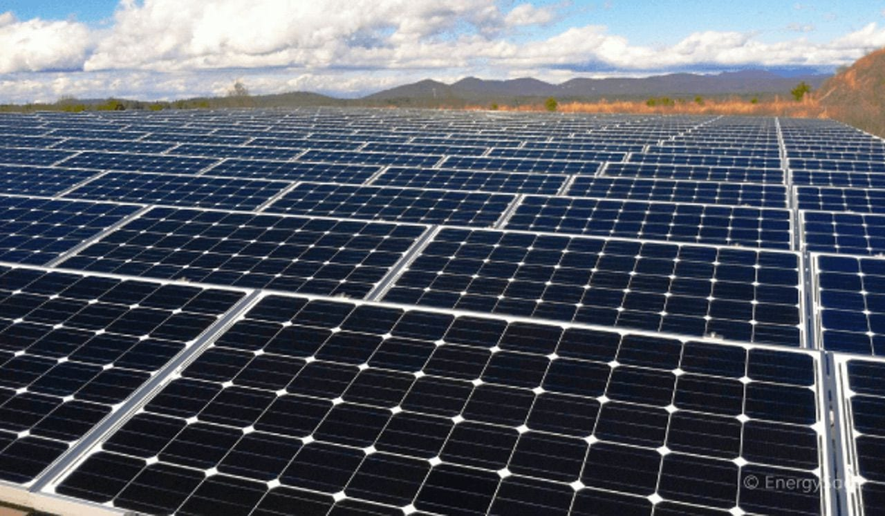 A large solar array. Image via EnergySage.com