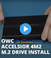 OWC Accelsior 4M2 M.2 Drive Install