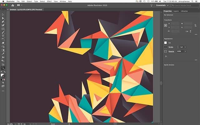 Adobe Illustrator UI
