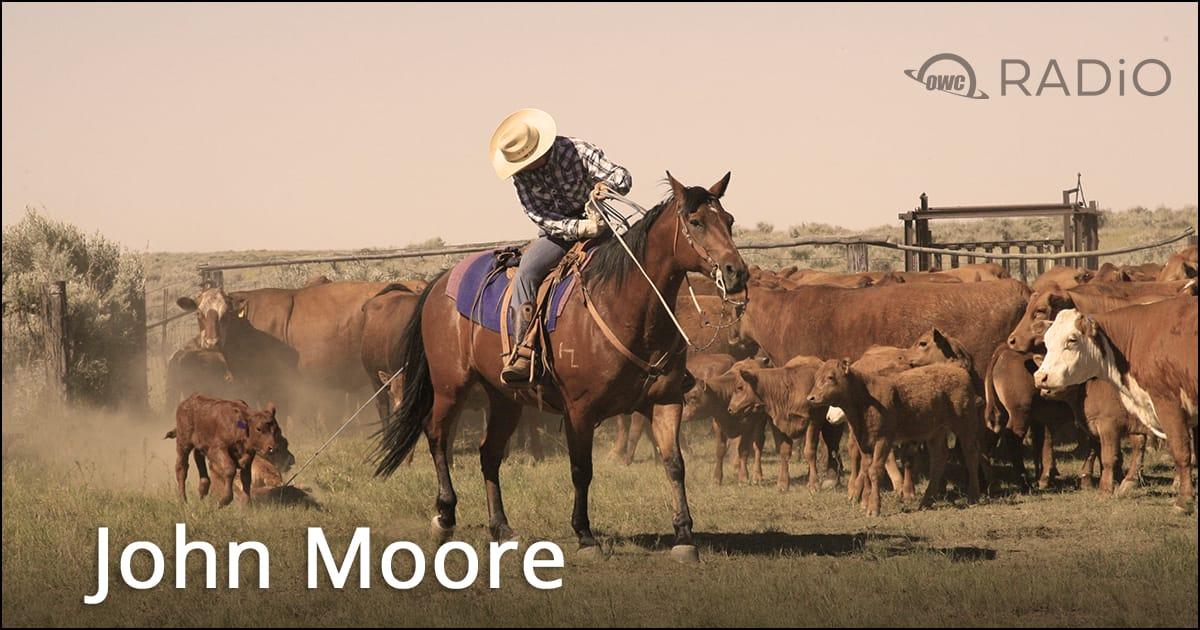 John Moore on a horse