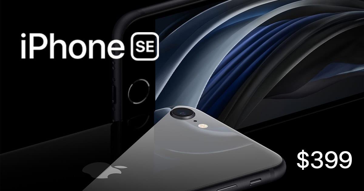 iPhone SE $399