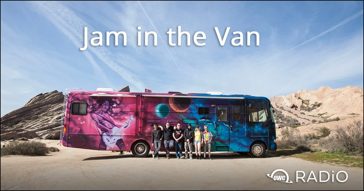 Picture of Jam in the Van buss with people