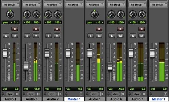 Pro Tools mix screen shot