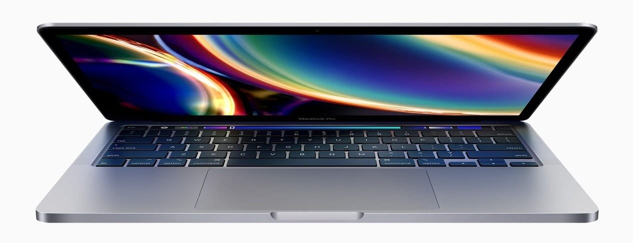 The new 13-inch MacBook Pro is available in Space Gray or Silver. Image via Apple