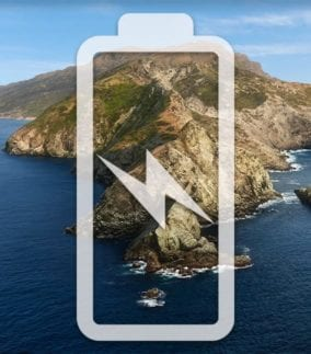 catalina island with battery icon
