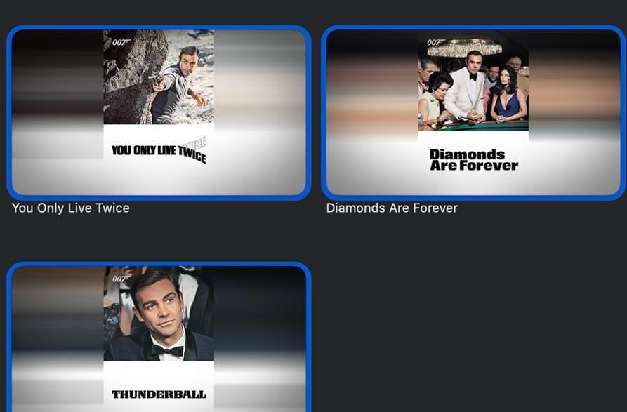 3 james bond movies in apple tv list
