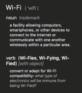 wifi spelling from macos dictionary