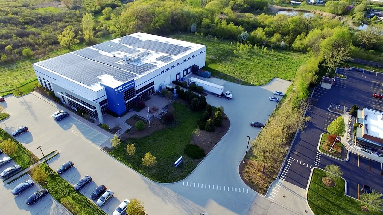 Aerial Photo of OWC's Warehouse in Woodstock, IL