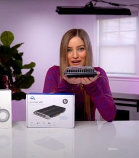 iJustine holding 1.5 TB of OWC memory