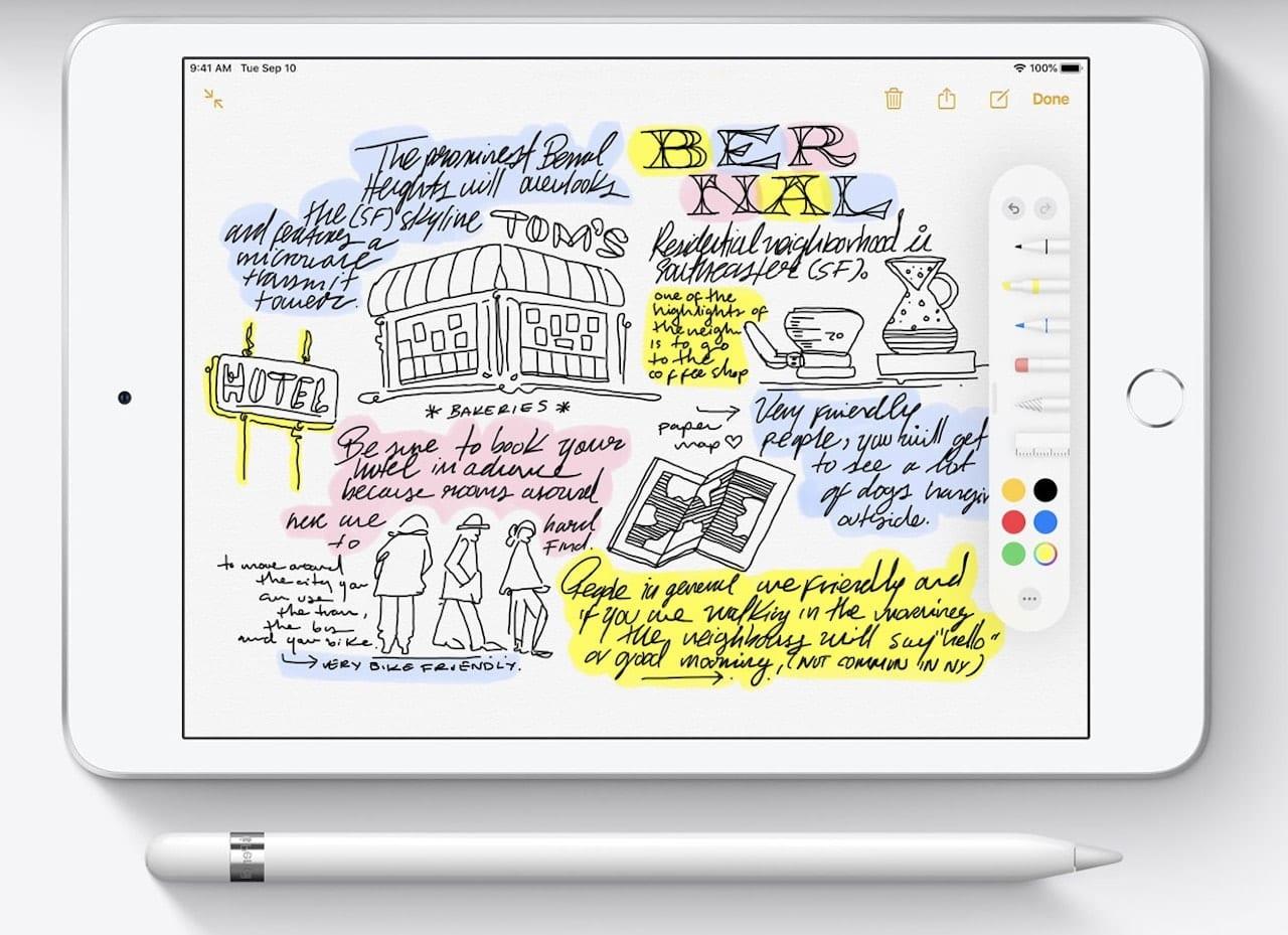Apple Pencil with iPad mini, image via Apple.com