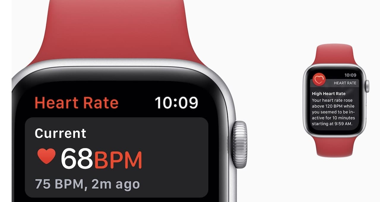 The Apple Watch's Heart Rate function is one of many health-related features. Image via Apple.com