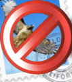 mail icon with read circle and a lione crossing it out