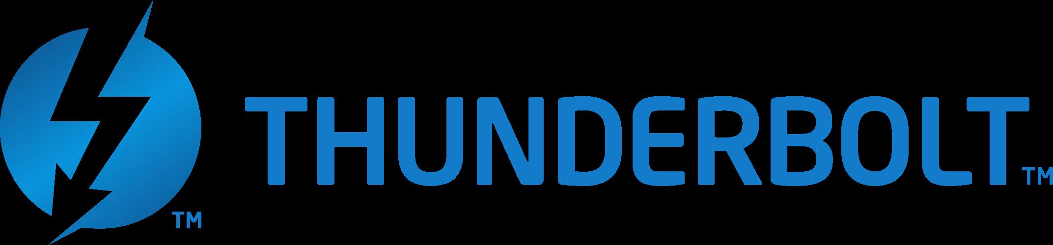 Transparent Thunderbolt Logo with Name